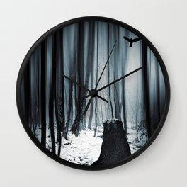 dark promise - raven Wall Clock