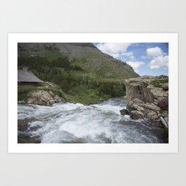 Waterfall Montana Art Print
