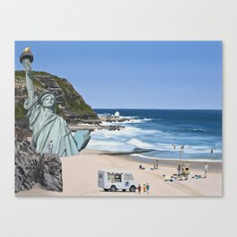 It's a Question of Simian Survival Canvas Print