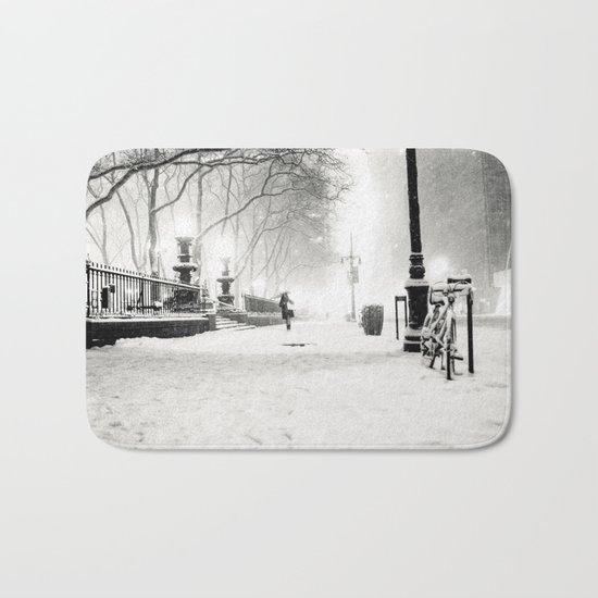 Snow - New York City - Bryant Park Bath Mat