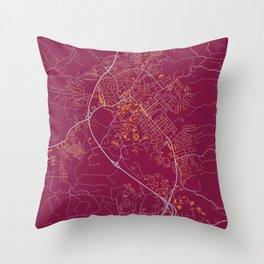 BLACKSBURG VIRGINIA COLLEGIATE MAP HANDRAWN Throw Pillow