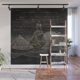 Horus on Egyptian pyramids landscape Wall Mural