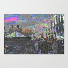 Arrived and built upon, an accumulation of antics. Canvas Print