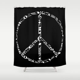 Music peace - inverted Shower Curtain