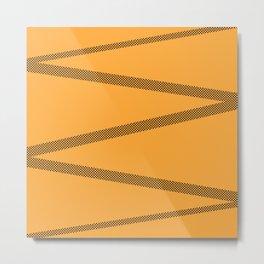 Zig zag lines Metal Print