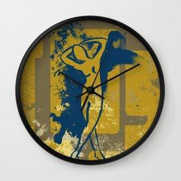 Foot Strokes Wall Clock