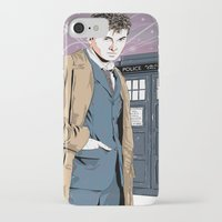 david tennant iPhone & iPod Cases featuring Doctor Who - David Tennant by Averagejoeart