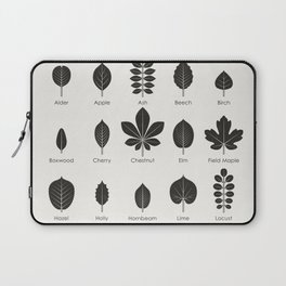 European Tree Leaves Laptop Sleeve
