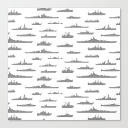 Battleship // Grey Canvas Print