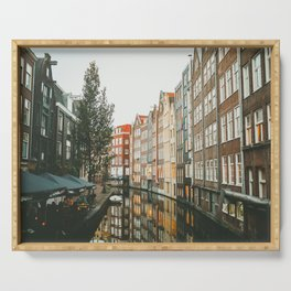 Amsterdam Canals Serving Tray