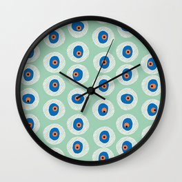 Evil Eye Charm - Hemlock  Wall Clock