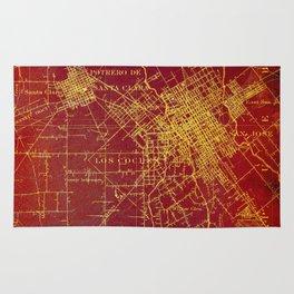 San Jose old map year 1899, united states vintage maps Rug