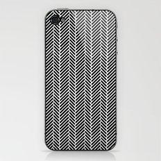 Herringbone Black Inverse iPhone & iPod Skin