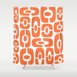 Mid Century Modern Cosmic Abstract 231 Orange Shower Curtain