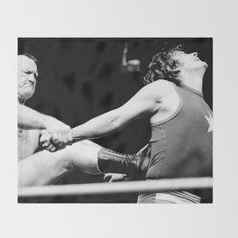 Wrestling Gene Kininski Throw Blanket