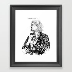I cant grow a new heart Framed Art Print
