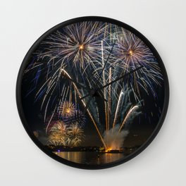 Fireworks on Sydney Harbour Wall Clock