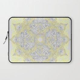 Sunny Doodle Mandala in Yellow & Grey Laptop Sleeve