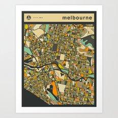 MELBOURNE MAP Art Print