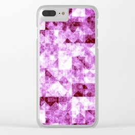 Abstract geometric pink surface. Clear iPhone Case