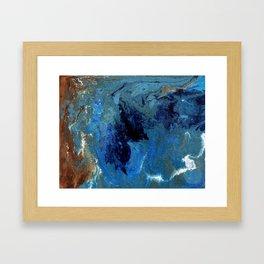 Copper Sands Against Deep Blue Sea Framed Art Print