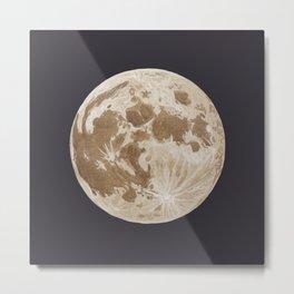 Moon Portrait 5, Linen Moon Metal Print
