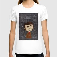 sagan T-shirts featuring Carl Sagan by Stephanie Fizer Coleman