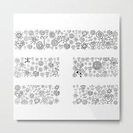 Thunder: Black and White Metal Print