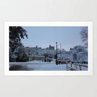 Windsor Castle (Snow) Art Print