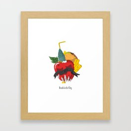 Death in the city Framed Art Print