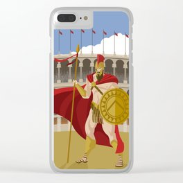 great spartan gladiator Clear iPhone Case