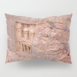 View Over the Treasury, Petra, Jordan Pillow Sham