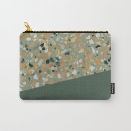 Terrazzo Texture Military Green #4 Carry-All Pouch