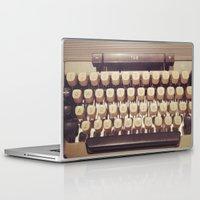 typewriter Laptop & iPad Skins featuring typewriter by Bunny Noir