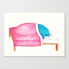 Sleeping with your Iphone? Canvas Print