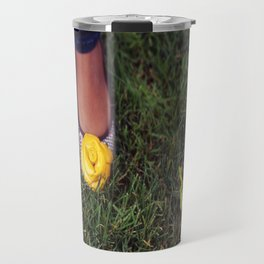 Yellow Flower Shoe! Travel Mug