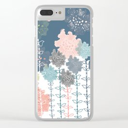 Floral Lacey Clear iPhone Case