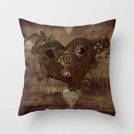 Steampunk Love Throw Pillow