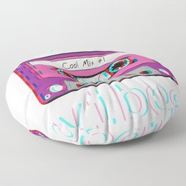 Low Fidelity Music product Aesthetic Tape Lo - fi Vibes design Floor Pillow