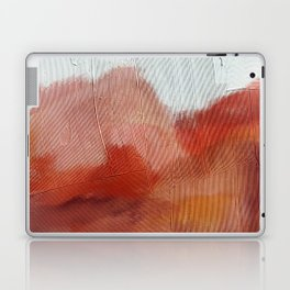 Desert Journey [2]: a textured, abstract piece in pinks, reds, and white by Alyssa Hamilton Art Laptop & iPad Skin
