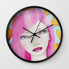 Bella SASS Girl - Pink - SASS = STRONG and SUPER SMART Wall Clock