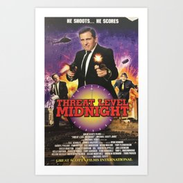 Geng Threat Level Midnight Poster Art Print