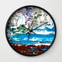 lake Wall Clocks featuring Lake by Claudia McBain