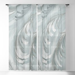 swirling feathers Sheer Curtain