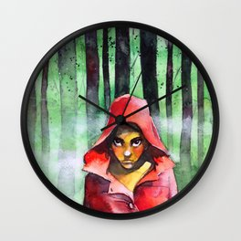Where is the wolf? (Just another Little red riding hood) Wall Clock