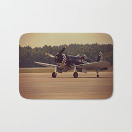 Air Craft - WWII-era fighter, Corsair Bath Mat