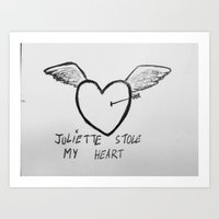 Juliette stole my heart Art Print