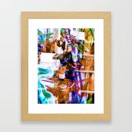 """The Juggler: Remixed 2 Framed Art Print"