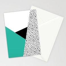 Geometric Modern Triangles with Spots Stationery Cards