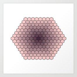 Honeycomb design in rose quartz and bodacious colour Art Print
